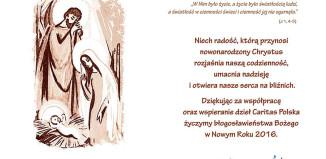 Życzenia Bożonarodzeniowe od Caritas Polska