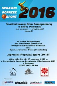 zaproszenie sprawni poprzez sport 2016