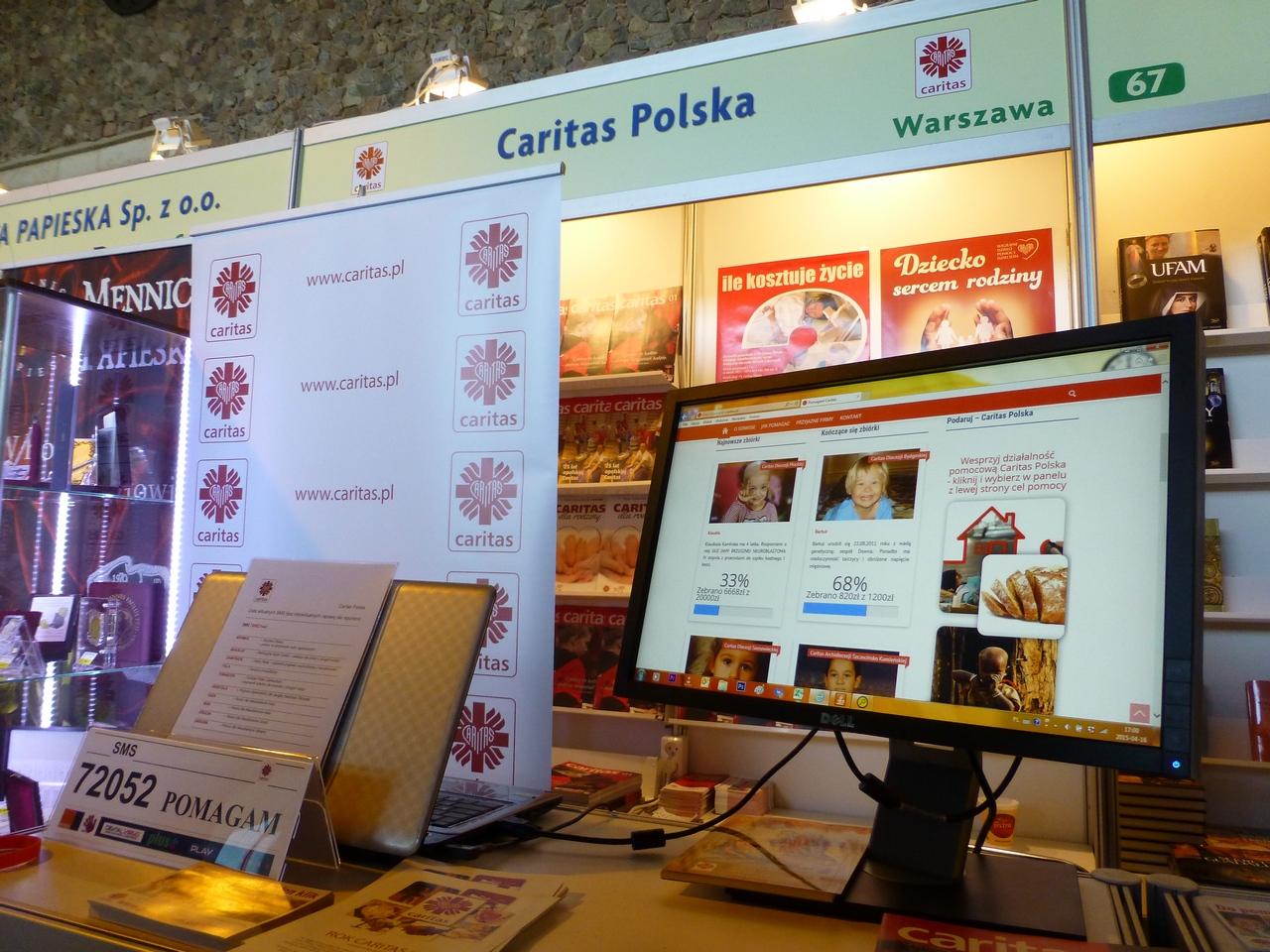 Caritas Polska na 21. Targach Wydawców Katolickich w Warszawie 01